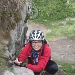 Beim erklimmen des Burgfelsens