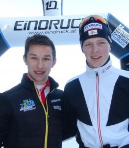Sieger der Jugendklasse im Teamsprint - Florian Koblmüller und Florian Schwentner (SU EinDRUCK Eidenberg Skilanglauf) - Kopie (2)