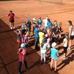 die Schüler beim Tennis