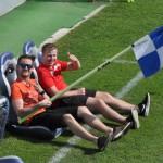 Trainer sitzen fest im Sattel