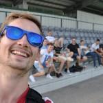 Ein Selfie vor dem Spiel