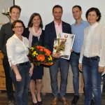 Obmann und Stellvertreter mit Petra und Ernst